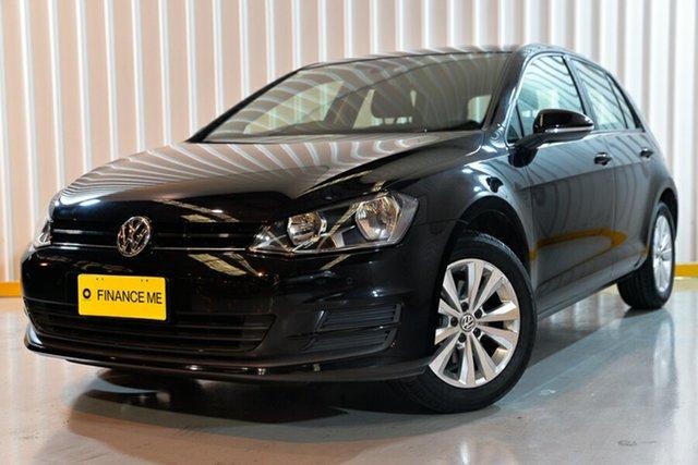 Used Volkswagen Golf VII MY15 90TSI DSG Comfortline, 2015 Volkswagen Golf VII MY15 90TSI DSG Comfortline Black/Grey 7 Speed Sports Automatic Dual Clutch