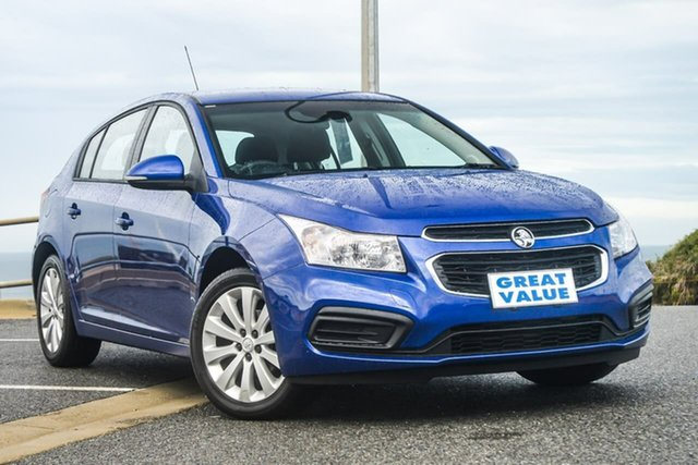 Used Holden Cruze JH Series II Equipe, 2016 Holden Cruze JH Series II Equipe Blue 6 Speed Sports Automatic Hatchback