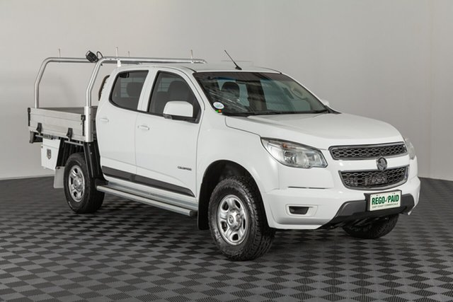 Used Holden Colorado RG MY15 LS Crew Cab 4x2, 2016 Holden Colorado RG MY15 LS Crew Cab 4x2 White 6 speed Manual Cab Chassis