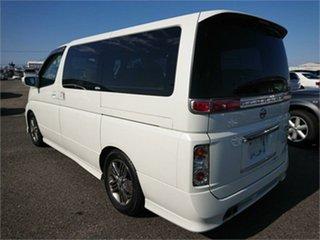 2005 Nissan Elgrand E51 Rider White Automatic Wagon.