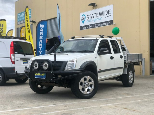 Used Holden Rodeo RA MY08 LX (4x4), 2008 Holden Rodeo RA MY08 LX (4x4) White 5 Speed Manual Crew Cab Chassis