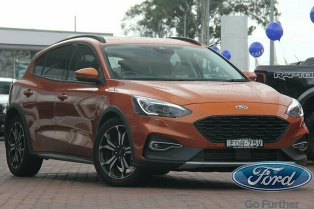 Used Ford Focus SA 2019.75MY Active, 2019 Ford Focus SA 2019.75MY Active Orange 8 Speed Automatic Hatchback