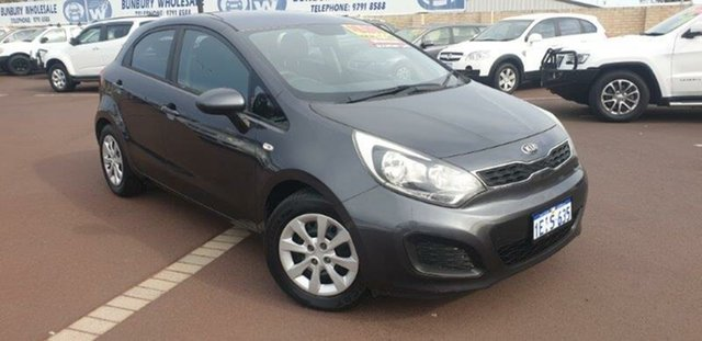 Used Kia Rio UB MY13 S East Bunbury, 2013 Kia Rio UB MY13 S Grey 6 Speed Manual Hatchback