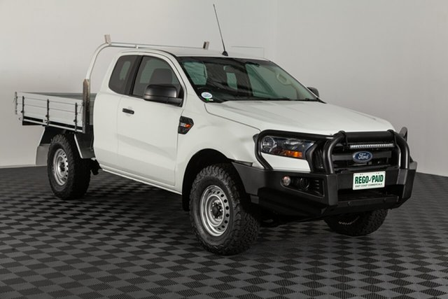 Used Ford Ranger PX MkII XL Super Cab, 2016 Ford Ranger PX MkII XL Super Cab White 6 speed Manual Cab Chassis