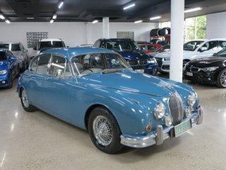 1959 Jaguar Mark II Blue 3 Speed Automatic Sedan.