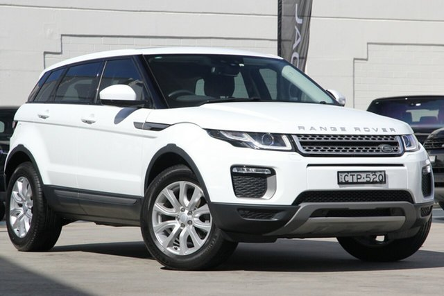 Used Land Rover Range Rover Evoque L538 MY17 TD4 180 SE, 2017 Land Rover Range Rover Evoque L538 MY17 TD4 180 SE Fuji White 9 Speed Sports Automatic Wagon