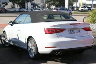 2014 Audi A3 8V MY15 Ambition S Tronic White 7 Speed Sports Automatic Dual Clutch Cabriolet.