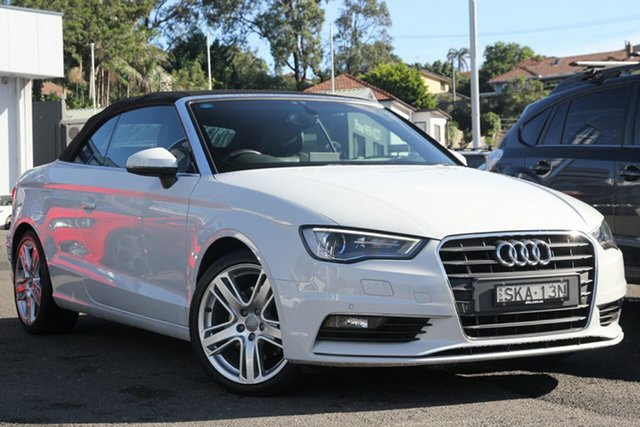 Used Audi A3 8V MY15 Ambition S Tronic, 2014 Audi A3 8V MY15 Ambition S Tronic White 7 Speed Sports Automatic Dual Clutch Cabriolet