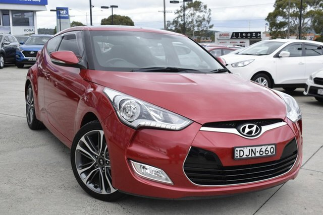 Used Hyundai Veloster FS5 Series II Coupe D-CT, 2015 Hyundai Veloster FS5 Series II Coupe D-CT Red 6 Speed Sports Automatic Dual Clutch Hatchback