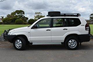 2005 Toyota Landcruiser Prado KZJ120R GX White 5 Speed Manual Wagon.