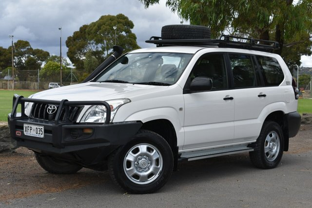 Used Toyota Landcruiser Prado KZJ120R GX, 2005 Toyota Landcruiser Prado KZJ120R GX White 5 Speed Manual Wagon