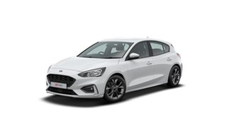2020 Ford Focus SA 2021MY ST-Line Frozen White 8 Speed Automatic Hatchback.