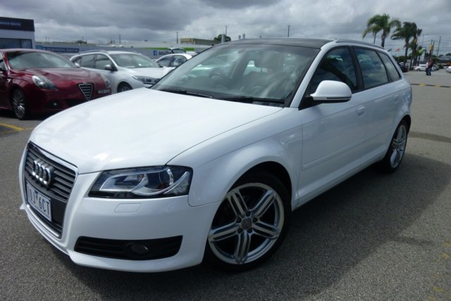 Used Audi A3 8P MY10 TFSI Sportback S Tronic Limited Edition, 2010 Audi A3 8P MY10 TFSI Sportback S Tronic Limited Edition White 7 Speed