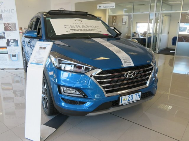Demo Hyundai Tucson TL3 MY19 Highlander AWD, 2019 Hyundai Tucson TL3 MY19 Highlander AWD Aqua Blue 8 Speed Sports Automatic Wagon