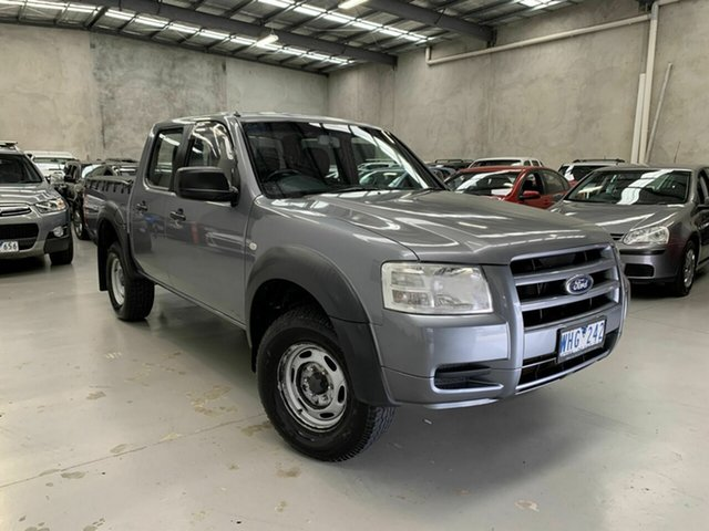 Used Ford Ranger PJ XL Crew Cab 4x2 Hi-Rider, 2008 Ford Ranger PJ XL Crew Cab 4x2 Hi-Rider Grey 5 Speed Manual Utility