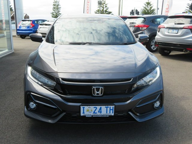Demo Honda Civic 10th Gen MY20 VTi-LX, 2019 Honda Civic 10th Gen MY20 VTi-LX Modern Steel 1 Speed Constant Variable Hatchback