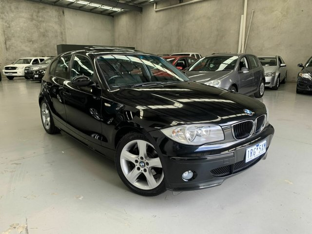 Used BMW 1 Series E87 120d Steptronic, 2006 BMW 1 Series E87 120d Steptronic Black 6 Speed Sports Automatic Hatchback
