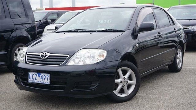 Used Toyota Corolla ZZE122R 5Y Conquest, 2005 Toyota Corolla ZZE122R 5Y Conquest Black 4 Speed Automatic Sedan
