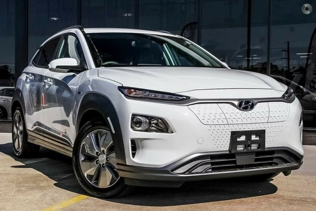 Demo Hyundai Kona OS.3 MY19 electric Elite, 2019 Hyundai Kona OS.3 MY19 electric Elite Chalk White 1 Speed Reduction Gear Wagon