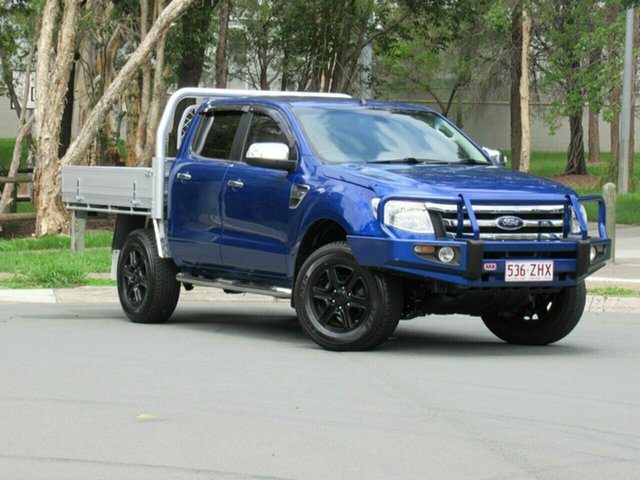 Used Ford Ranger PX XLT Double Cab, 2012 Ford Ranger PX XLT Double Cab Blue 6 Speed Sports Automatic Utility