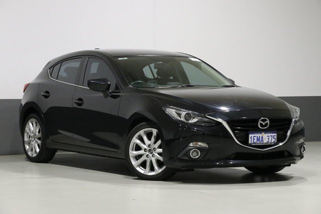 Used Mazda 3 BM SP25 GT, 2014 Mazda 3 BM SP25 GT Black 6 Speed Automatic Hatchback
