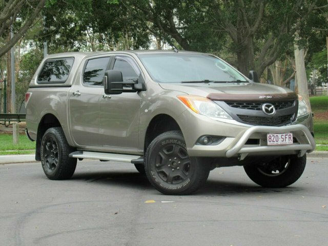 Used Mazda BT-50 UP0YF1 GT, 2012 Mazda BT-50 UP0YF1 GT Gold 6 Speed Sports Automatic Utility