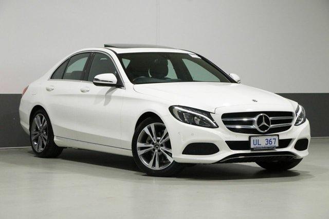 Used Mercedes-Benz C-Class W205 808MY C200 9G-Tronic, 2018 Mercedes-Benz C-Class W205 808MY C200 9G-Tronic White 9 Speed Sports Automatic Sedan
