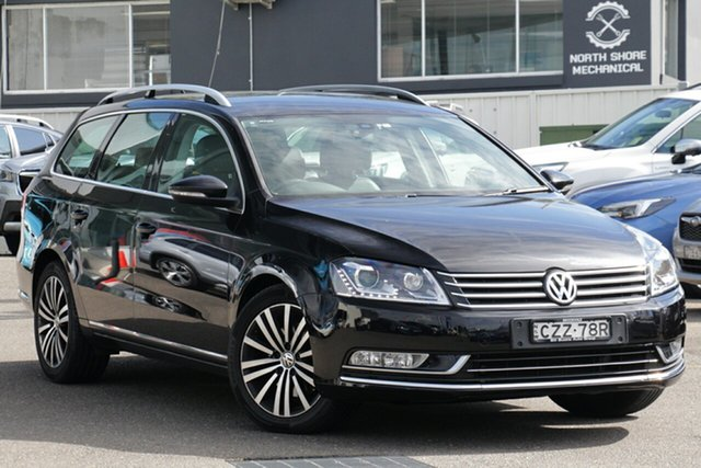 Used Volkswagen Passat Type 3C MY15 130TDI DSG Highline, 2014 Volkswagen Passat Type 3C MY15 130TDI DSG Highline Black 6 Speed Sports Automatic Dual Clutch