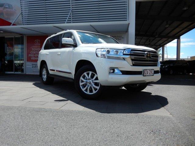 Demo Toyota Landcruiser VDJ200R Sahara, 2019 Toyota Landcruiser VDJ200R Sahara Crystal Pearl 6 Speed Sports Automatic Wagon