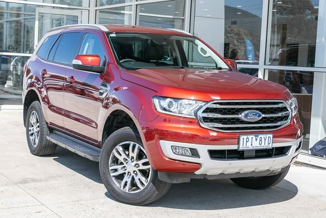 Used Ford Everest UA II 2019.75MY Trend 4WD, 2019 Ford Everest UA II 2019.75MY Trend 4WD Red 6 Speed Sports Automatic Wagon