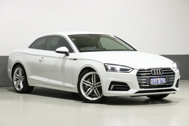 Used Audi A5 F5 MY17 2.0 TFSI Quattro S Tronic Sprt, 2017 Audi A5 F5 MY17 2.0 TFSI Quattro S Tronic Sprt White 7 Speed Auto Dual Clutch Coupe