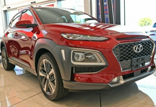 New Hyundai Kona OS.3 MY20 Highlander 2WD, 2020 Hyundai Kona OS.3 MY20 Highlander 2WD Pulse Red 6 Speed Sports Automatic Wagon