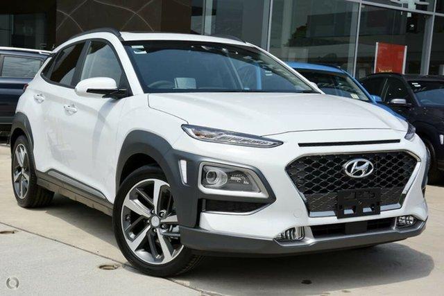 New Hyundai Kona OS.3 MY20 Highlander 2WD, 2020 Hyundai Kona OS.3 MY20 Highlander 2WD Chalk White 6 Speed Sports Automatic Wagon