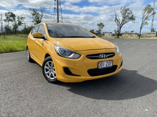 2014 Hyundai Accent RB2 Active Yellow 4 Speed Sports Automatic Hatchback.