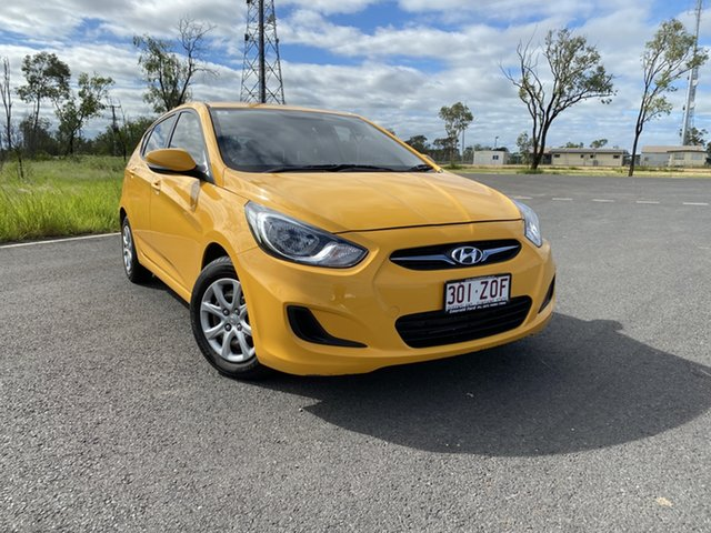 Used Hyundai Accent RB2 Active, 2014 Hyundai Accent RB2 Active Yellow 4 Speed Sports Automatic Hatchback