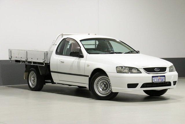 Used Ford Falcon BF XL (LPG), 2006 Ford Falcon BF XL (LPG) White 4 Speed Auto Seq Sportshift Cab Chassis