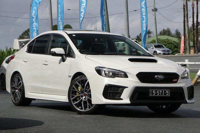 Demo Subaru WRX V1 MY20 STI AWD Premium, 2019 Subaru WRX V1 MY20 STI AWD Premium White Crystal 6 Speed Manual Sedan