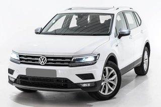 2018 Volkswagen Tiguan 5N MY19 132TSI Comfortline DSG 4MOTION Allspace White 7 Speed.