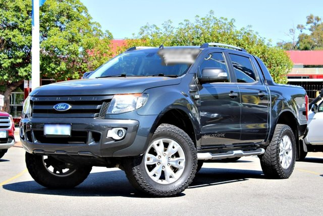 Used Ford Ranger PX Wildtrak Double Cab, 2013 Ford Ranger PX Wildtrak Double Cab Grey 6 Speed Sports Automatic Utility