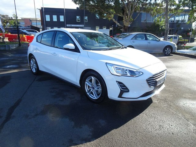 Used Ford Focus SA 2019.25MY Ambiente, 2019 Ford Focus SA 2019.25MY Ambiente Frozen White 6 Speed Automatic Hatchback