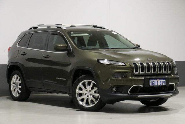 Used Jeep Cherokee KL MY15 Limited (4x4), 2015 Jeep Cherokee KL MY15 Limited (4x4) Green 9 Speed Automatic Wagon