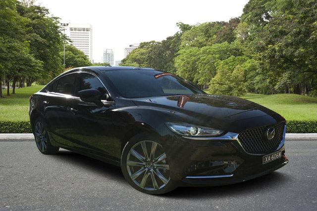 Demo Mazda 6 GL1033 Atenza SKYACTIV-Drive, 2019 Mazda 6 GL1033 Atenza SKYACTIV-Drive Jet Black 6 Speed Sports Automatic Sedan