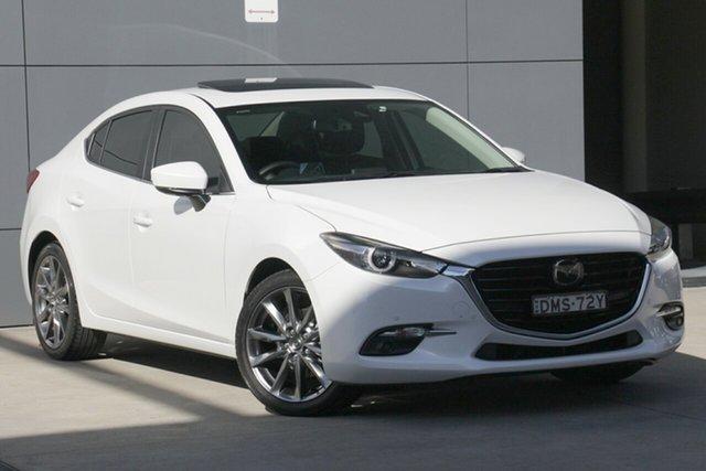 Used Mazda 3 BN5238 SP25 SKYACTIV-Drive Astina, 2017 Mazda 3 BN5238 SP25 SKYACTIV-Drive Astina White 6 Speed Sports Automatic Sedan