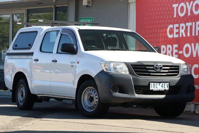 Used Toyota Hilux TGN16R MY12 Workmate Double Cab 4x2, 2013 Toyota Hilux TGN16R MY12 Workmate Double Cab 4x2 Glacier White 4 Speed Automatic Utility