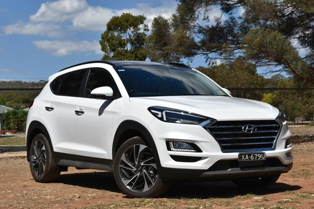 Demo Hyundai Tucson TL3 MY20 Highlander AWD, 2019 Hyundai Tucson TL3 MY20 Highlander AWD White Pearl 8 Speed Sports Automatic Wagon