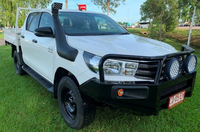 Used Toyota Hilux GUN126R SR Double Cab, 2017 Toyota Hilux GUN126R SR Double Cab White 6 Speed Sports Automatic Utility