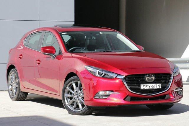Used Mazda 3 BN5438 SP25 SKYACTIV-Drive Astina, 2018 Mazda 3 BN5438 SP25 SKYACTIV-Drive Astina Soul Red 6 Speed Sports Automatic Hatchback