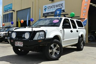 2007 Holden Rodeo RA MY07 LX (4x4) White 5 Speed Manual Crew Cab Chassis