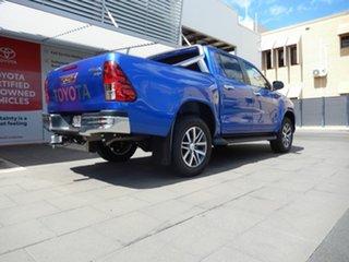 2019 Toyota Hilux GUN126R SR5 Double Cab Nebula Blue 6 Speed Manual Utility.