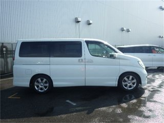 2010 Nissan Elgrand E51 Highway Star White Automatic Wagon.